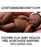 OOAK baby, Baby mold, Polymer clay baby mold, Fimo baby, Sculpey. Free worldwide  shipping (1) (2)